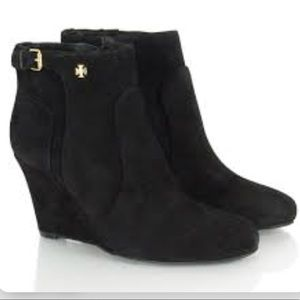 Tory Burch Milan suede wedge bootie size 9